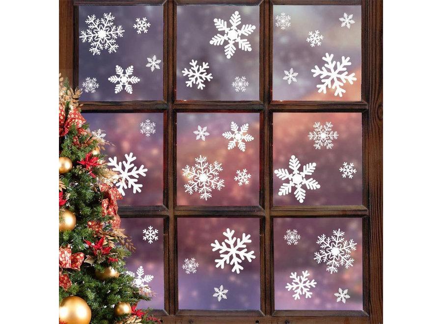 240 Stickers Sneeuwvlokken Winter & Kerst Raam Decoratie