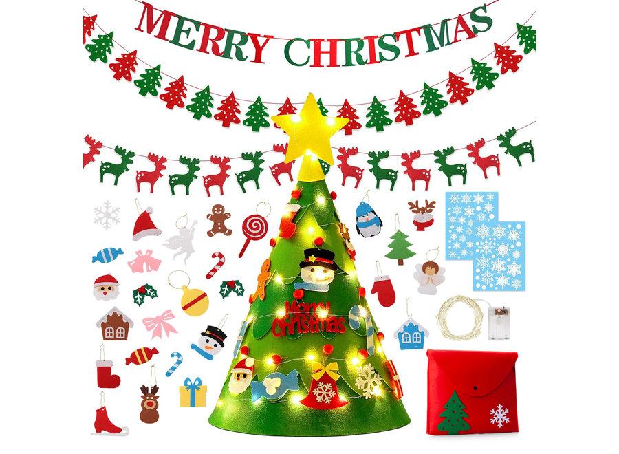 3D vilten kerstboom