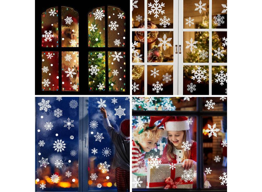 190 Stickers Kerst & Winter Raam Decoratie – Kerstversiering
