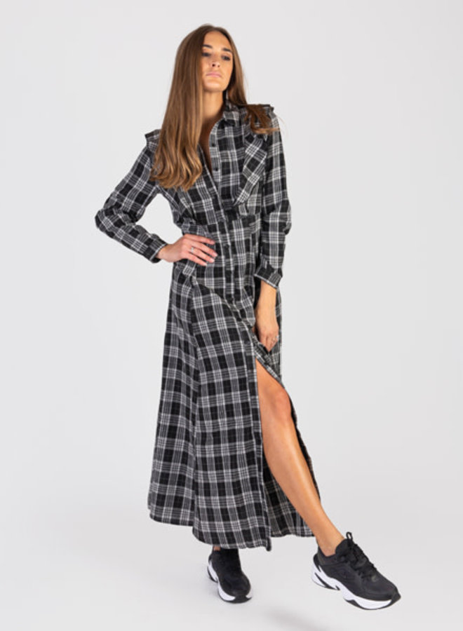 Long dress checked