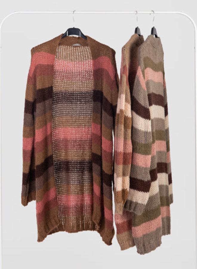 Gilet color stripes