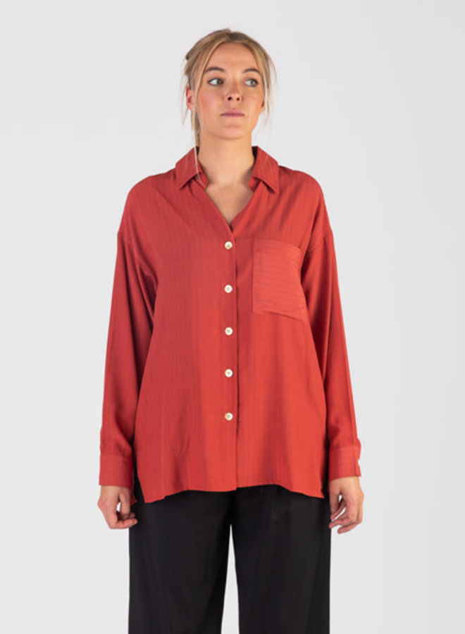 Blouse gold buttons