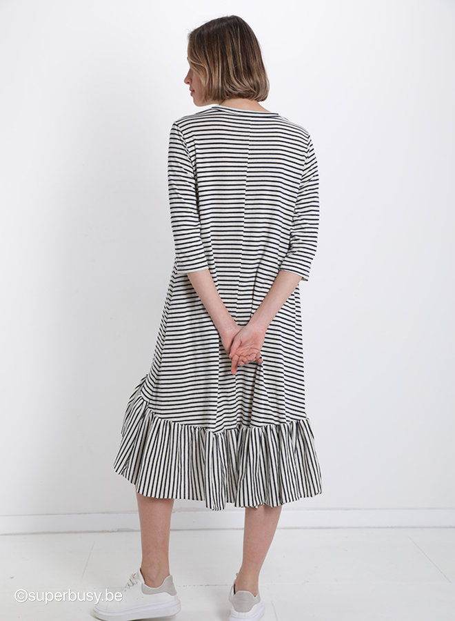 Dress stripe flounces