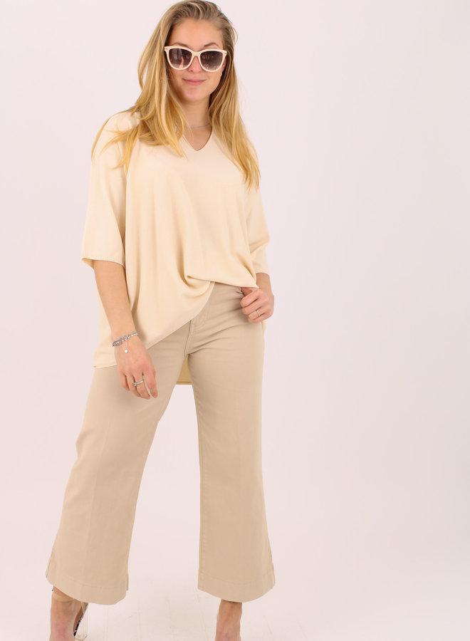 Cropped wide leg jeans B