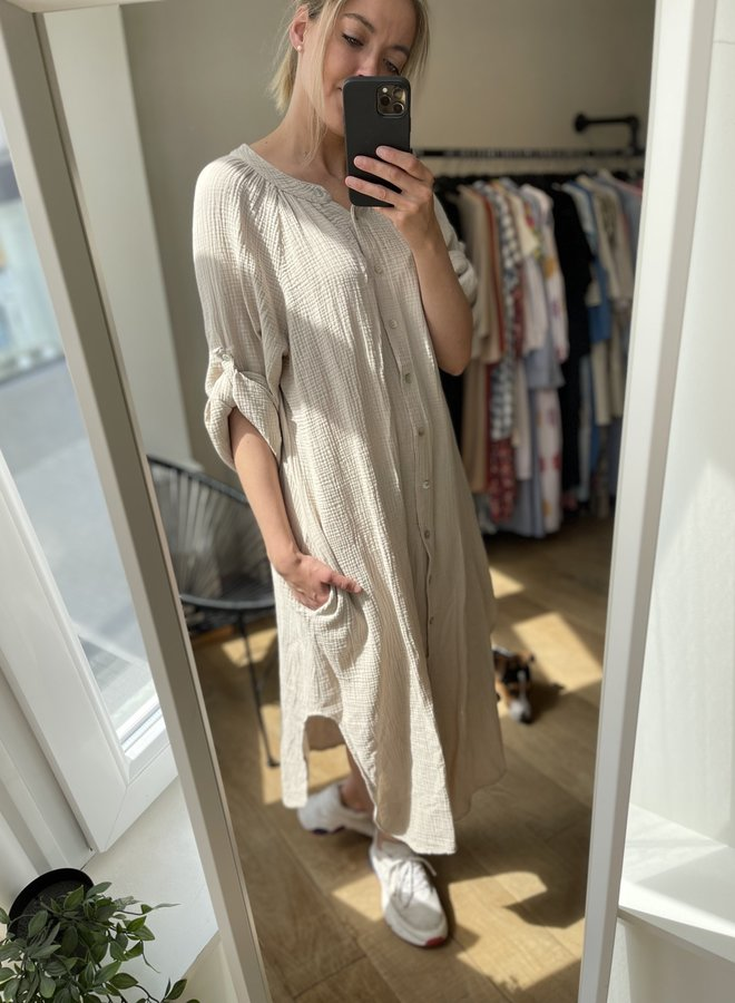 Tetra long shirt dress