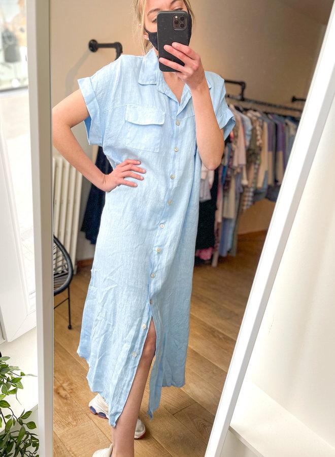 Linen pocket dress