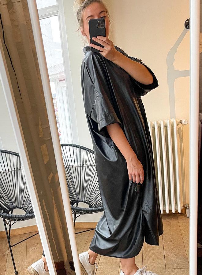 Dress faux leather wide