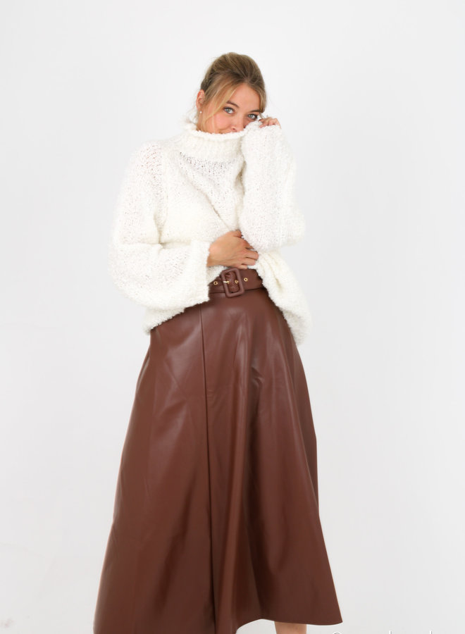 Skirt faux leater Birgit