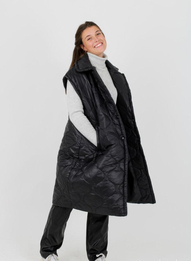 Sleeveless coat