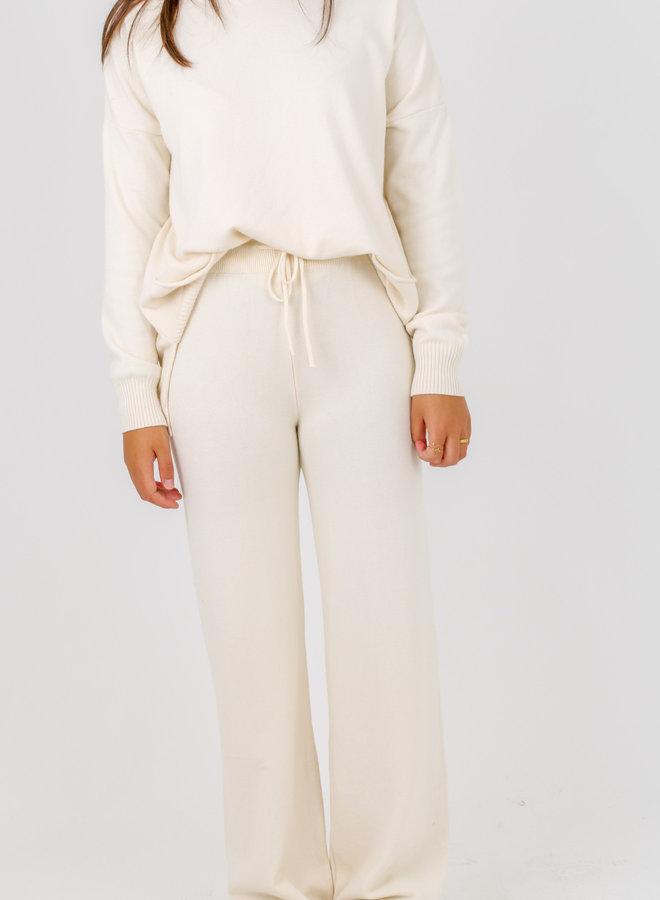 Trouser knitwear combi