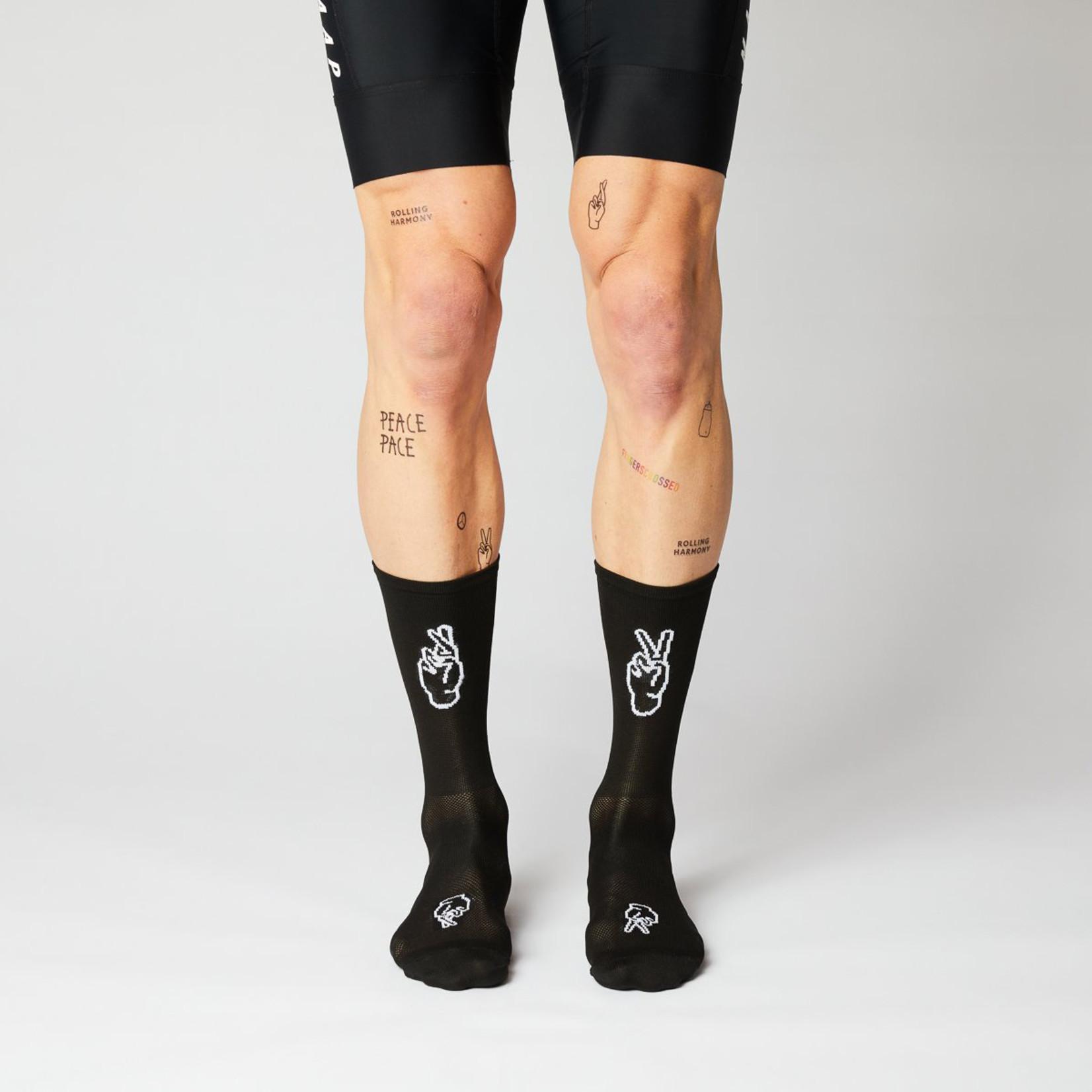 Fingerscrossed FINGERSCROSSED Socks - Rolling Harmony Black
