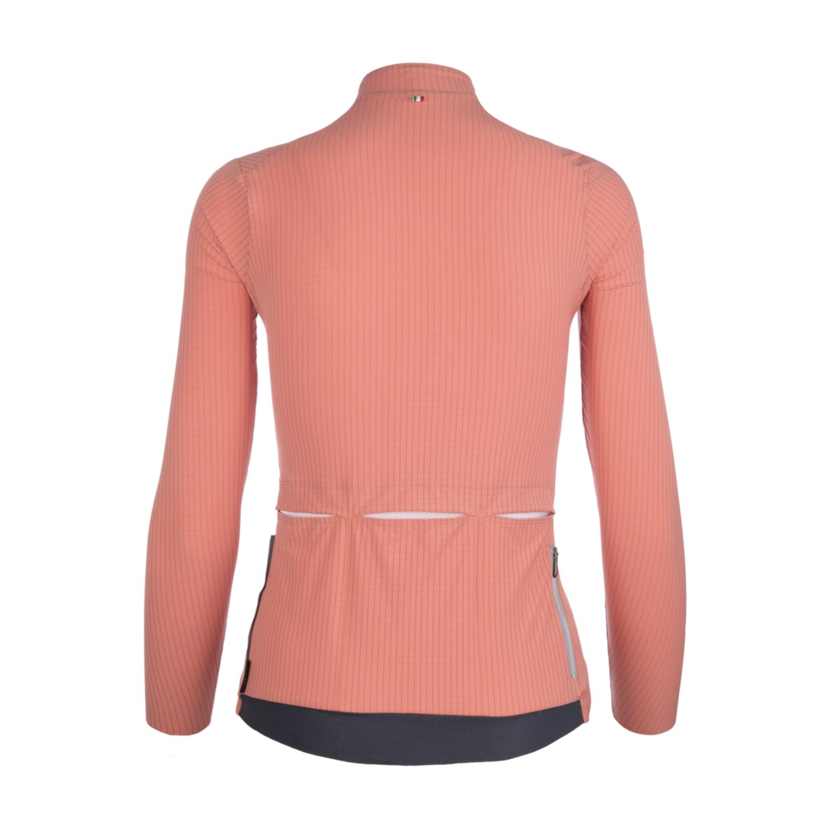 Q36.5 Q36.5 Women Long Sleeve Jersey L1 Pinstripe X - Rosa Antico