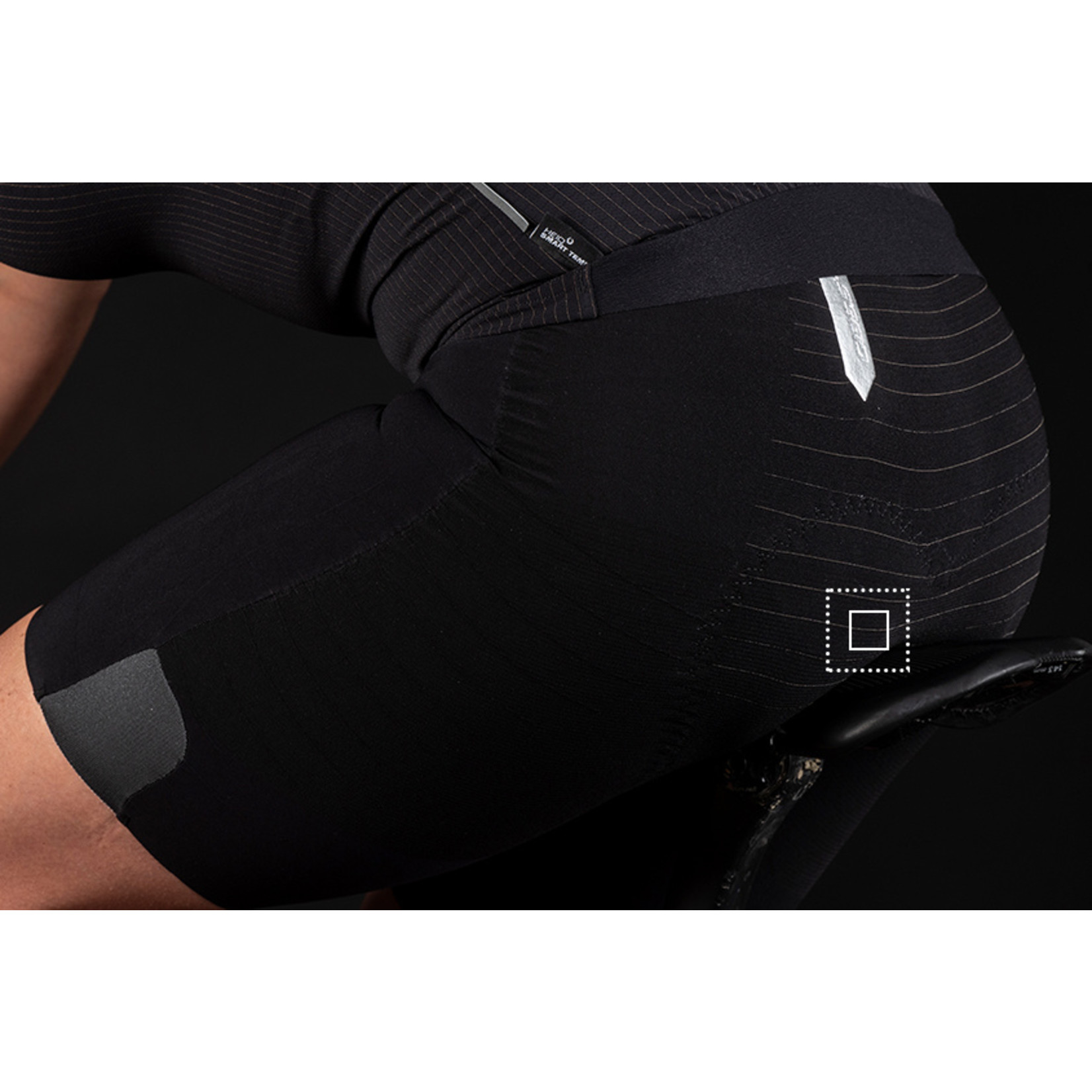 Q36.5 Q36.5 Women Unique Bib Shorts - Black