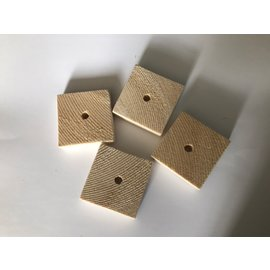Gaaien-frutsels Balsa hout schijven 5x5 ruw