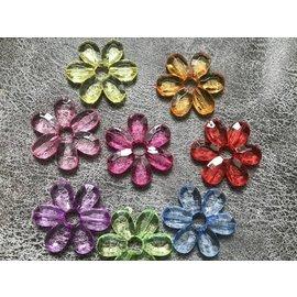 Transparante  bloem 4,6 cm