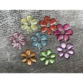 Transparante bloem 3 cm