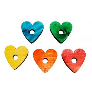 Zoo-Max 10st Pine Hearts, Mix Color