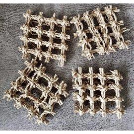 Grasmat stukjes