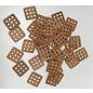 Leren gaten vierkant 3,8 x 3,8 cm