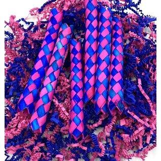 Gaaien-frutsels Sliertjes en fingertraps roze/royal bleu