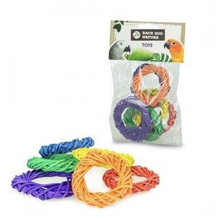 Back Zoo Nature BZN Coloured Woven Rings (6 stuks)