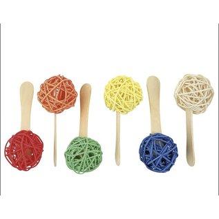 Popsicle Sticks Parrot Foot Toys - 6 stuks