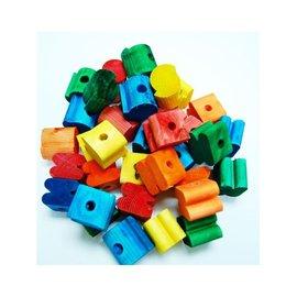 Zoo-Max Houten klos kleur 36 stuks