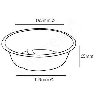 Suikerrieten Bowl 1200 ML met of zonder deksel