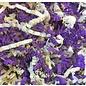 Gaaien-frutsels Papieren sliertjes gemengd Ivory purple