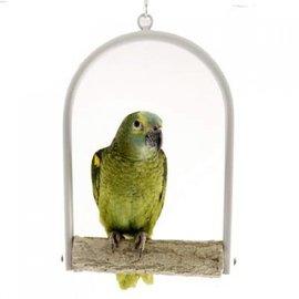 Papegaaien schommel met slijtstok 20 cm