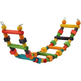 Rainbow Wooden Parrot Ladder