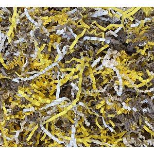Gaaien-frutsels Papieren sliertjes gemengd Ivory yellow