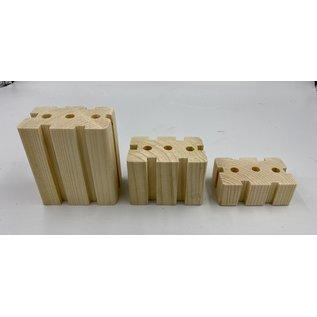 Gaaien-frutsels Knabbels rechthoek 2,5 cm dik