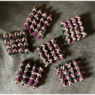 Grasmat stukjes gekleurd