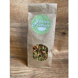 Gaaien-frutsels Broccoli - pompoen pasta warme hap