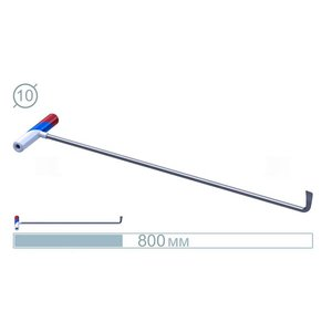 AV Tool 07013 80CM Hook Stainless snake Rod