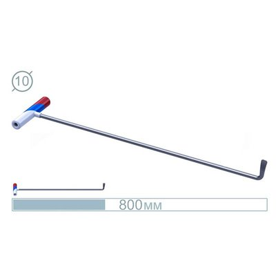 AV Tool 07015 80CM Hook Stainless snake Rod