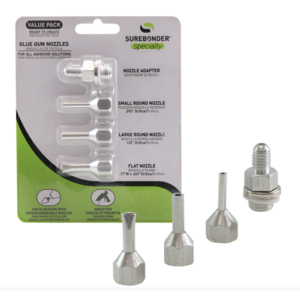 Surebonder Nozzle Assortment - Flat and Round Glue Gun Nozzles