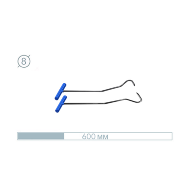 AV Tool 07024-2 Hook Stainless snake Rod 2 PCS