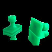 Laka Tools Dent tabadapter groen 30x20mm 5 stuks