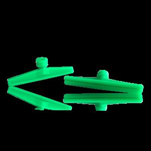 Laka Tools Dent tabadapter groen 80x10mm 5 stuks