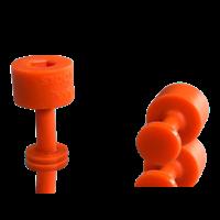 Laka Tools Dent tabadapter oranje 9mm 5 stuks