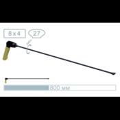 AV Tool 18015PR 80 cm whale tail, tip breedte 27 mm, handvat verstelbaar