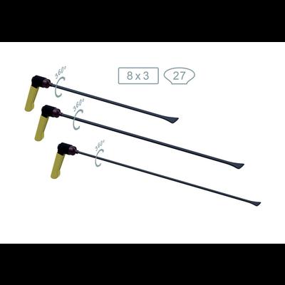 AV Tool 18013,14,15PR whale tail set 3 PCS, tip breedte 27 mm, handvat verstelbaar