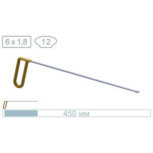 AV Tool 18021 45cm whale tail with a 12mm wide 1,8mm thin tip