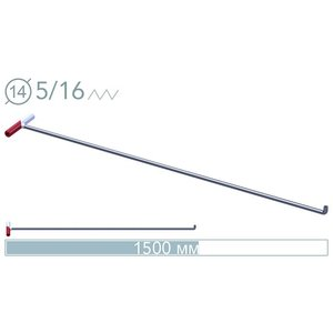 AV Tool 14026 D 150 cm ø14 mm 90° screw-on tip rod