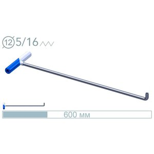 AV Tool 14016D 60cm ø12mm 90° screw-on tip rod