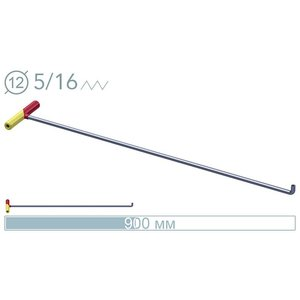 AV Tool 14007D 90cm ø12mm 90° screw-on tip rod