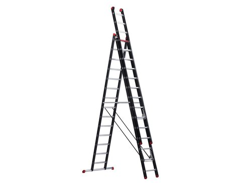 Altrex Mounter - aluminium ladder (gecoat) - 3-delig reform 9,35m