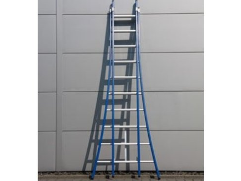 DAS Atlas 'Blue' dubbele ladder - gecoat 2,80m tot 4,75m